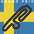 My F1 Anderstorp Race Track Minimal Poster by Chungkong Art