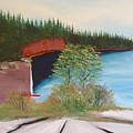 My Kayak Sitting On The Beach At Split Rock by Troy Thomas