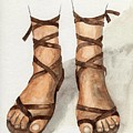 My leather sandals