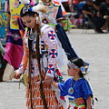 My Mother My Teacher Colorful Photograph Of Native American Pow Wow by Colleen Cornelius