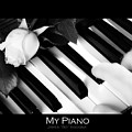 My Piano Bw Fine Art Photography Print by James BO  Insogna