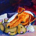 My Teddy - Wire Hair Fox Terrier by Lyn Cook