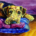 My Teddy Airedale Terrier by Lyn Cook