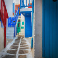 Mykonos Alley by Inge Johnsson