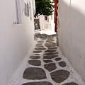 Mykonos Alley by Ron Koivisto