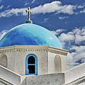 Mykonos Blue Church Dome by Linda Pulvermacher