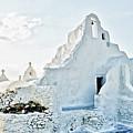Mykonos Church In White by Linda Pulvermacher