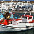 Mykonos Greece Fishing Boats by Bob Christopher