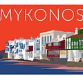 Mykonos Little Venice - Orange by Sam Brennan