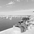 Mylor Quay In Cornwall Monochrome by Terri Waters