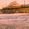 Myrtle Beach Apache Pier At Sunset Panorama by Ranjay Mitra