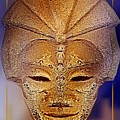 Mysterious Ancient  Asian Mask by Hartmut Jager