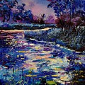 Mysterious Blue Pond by Pol Ledent