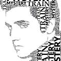 Mystery Train Elvis Wordart by Alice Gipson