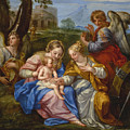 Mystic Marriage Of Saint Catherine Of Alexandria by Andrea Procaccini