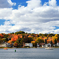Mystic River In Autumn by Stephanie McDowell