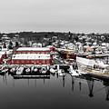 Mystic Seaport In Winter by Petr Hejl
