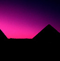 The Pyramids At Sundown by Gary Wonning