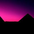 The Pyramids At Sundown by Gary Wonning