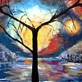 Mystical Twilight Forest by Bernadette Krupa