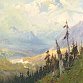 An Autumn Day, Mt Mckinley  by Sidney Laurence