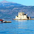 Naflion Greece Harbor Fortress by Phyllis Kaltenbach