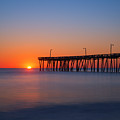 Nags Head Fishing Pier Sunrise by Michael Ver Sprill