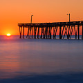 Nags Head Fishing Pier Sunrise Panorama by Michael Ver Sprill
