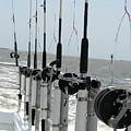 Nags Head Nc Fishing Poles by Brett Winn