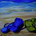 Naked Feet On The Beach by Patti Schermerhorn