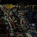 Naked Moon Over The Strip by David Lee Thompson