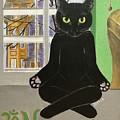 Namaste Cat by Chrissey Dittus