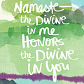 Namaste- Watercolor Card by Linda Woods