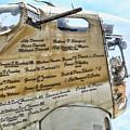 Names On B-17 by Chuck Kuhn