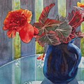 Nancy's Begonias by Ruth Kamenev