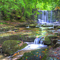 Nant Mill Waterfall by Mal Bray