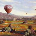 Napa Balloon Autumn Ride by Takayuki Harada