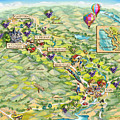 Napa Valley Illustrated Map by Maria Rabinky