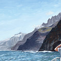Napali Coast Cruise by Mary Giacomini