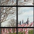 2 Of 6 Naperville Healing Field Of Honor At Rotary Hill Window by Michael Bessler