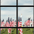 3 Of 6 Naperville Healing Field Of Honor At Rotary Hill Window by Michael Bessler