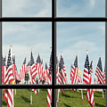 4 Of 6 Naperville Healing Field Of Honor At Rotary Hill Window by Michael Bessler