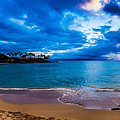 Napili Bay Sunset Panorama by Dave Fish