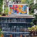 Naples Botanical Waterfall - Refreshing Garden by Ronald Reid