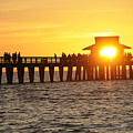 Naples Florida Sunset Pier by Keith Lovejoy