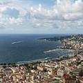 Naples Italy Aerial Perspective - Coastal Beauty Of Mergellina, Posillipo And Marechiaro by Georgia Mizuleva