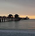 Naples Pier - Golden Hour At The Pier by Ronald Reid