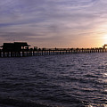 Naples Pier Sundown by Keith Lovejoy