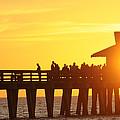 Naples Pier Sunset by Keith Lovejoy
