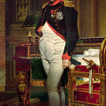 Napoleon Bonaparte In His Study At The Tuileries, 1812 by Jacques Louis David